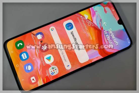 Desain Samsung Galaxy A70