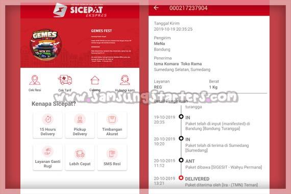 Aplikasi Cek Ongkir SiCepat