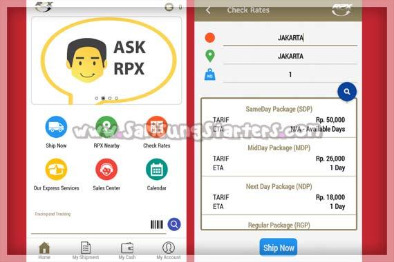 Aplikasi Cek Ongkos Kirim RPX