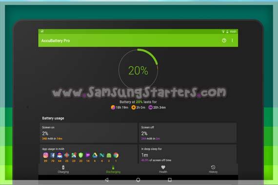 Aplikasi Persentase Baterai Samsung