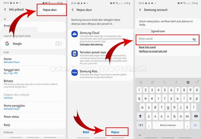 Cara Menghapus Akun Samsung Account Dari Hp
