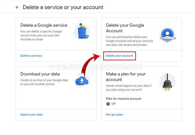 Delete Akun Google Permanen