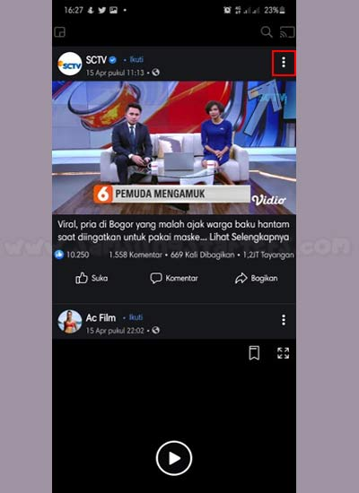 Cara Download Video FB HD