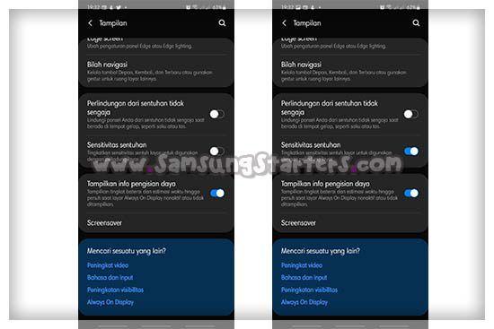 Cara Mengatur Sensitivitas Layar HP Samsung