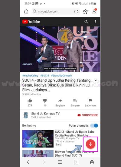 Download Video Dengan Vidmate