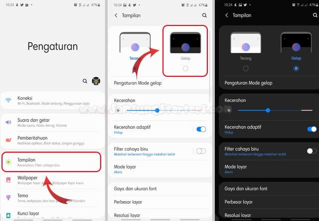 Cara Mengaktifkan Dark Mode Samsung