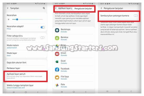 Cara Menyembunyikan Notch HP Samsung Terbaru