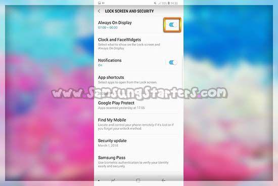 Tap icon bulat yang mendadakan Fitur always on display sudah aktif di ponsel kamu