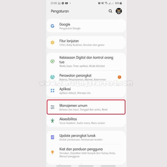 Reset Wifi Samsung