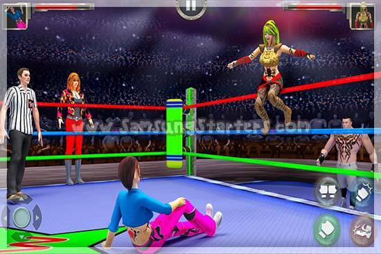 Wanita Gulat Melawan Revolusi Fighting Game