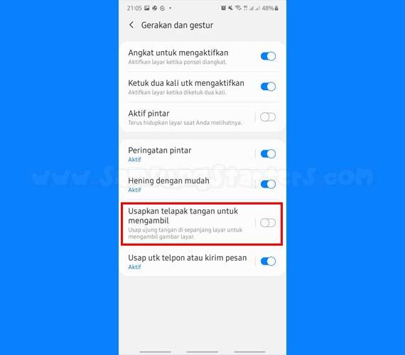 Cara Screenshot Samsung A30s Dengan Usap Layar