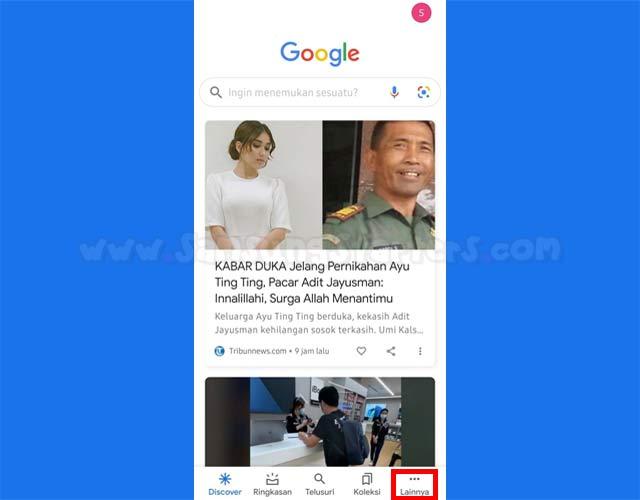Cara Hapus Riwayat Pencarian di Google Hp Android