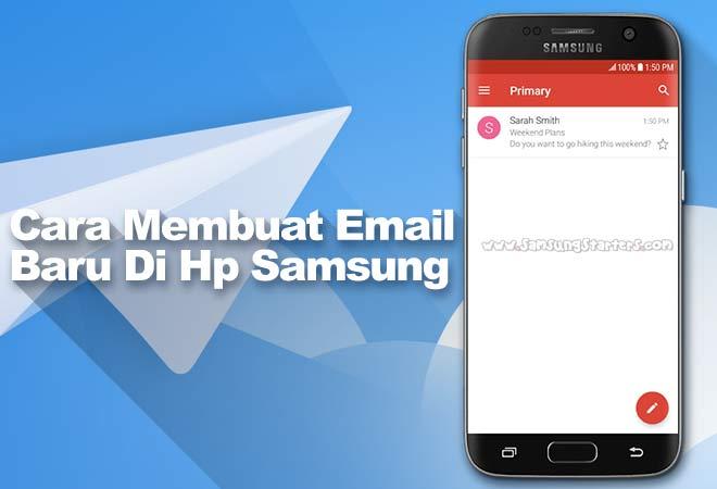 Cara Membuat Email Baru di Hp Samsung