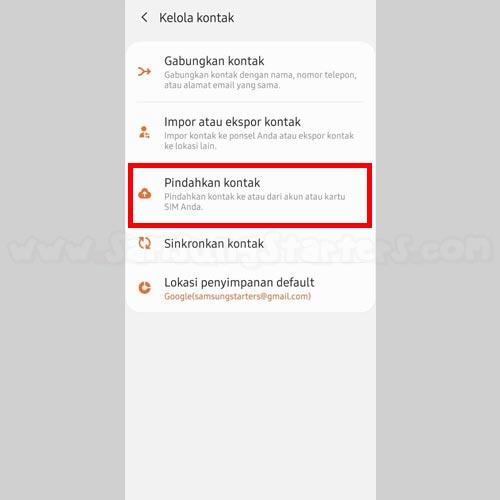 Cara Pindahkan Kontak Hp Samsung Ke Gmail