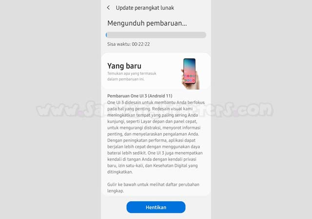 Cara Update Android 11 Samsung