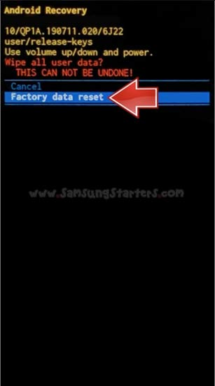 Cara Factory Data Reset Samsung