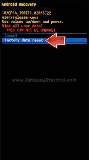 Cara Factory Data Reset Samsung
