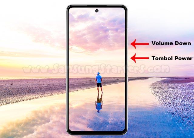 Cara Screenshot Samsung A52