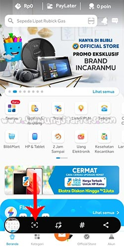 Cara Screenshot Samsung Galaxy A32 Panjang