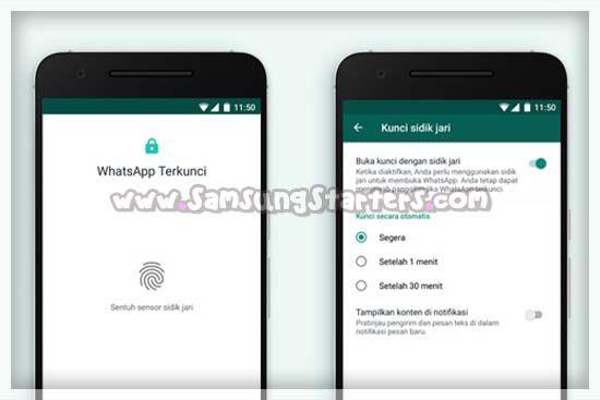 Cara Mengunci Whatsapp di HP Samsung