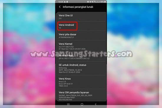 Versi Android Samsung